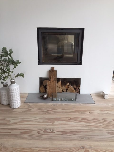 Polished concrete fireplaces surrounds and hearths for Concrete mantels and hearths