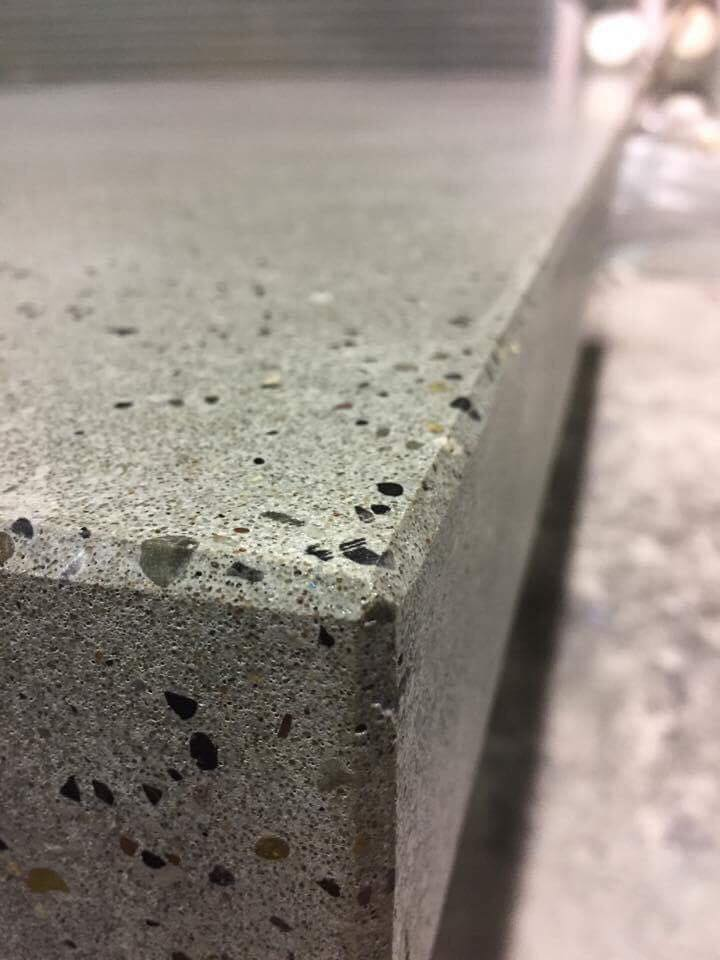 Exposed Aggregate Polished Concrete Worktop